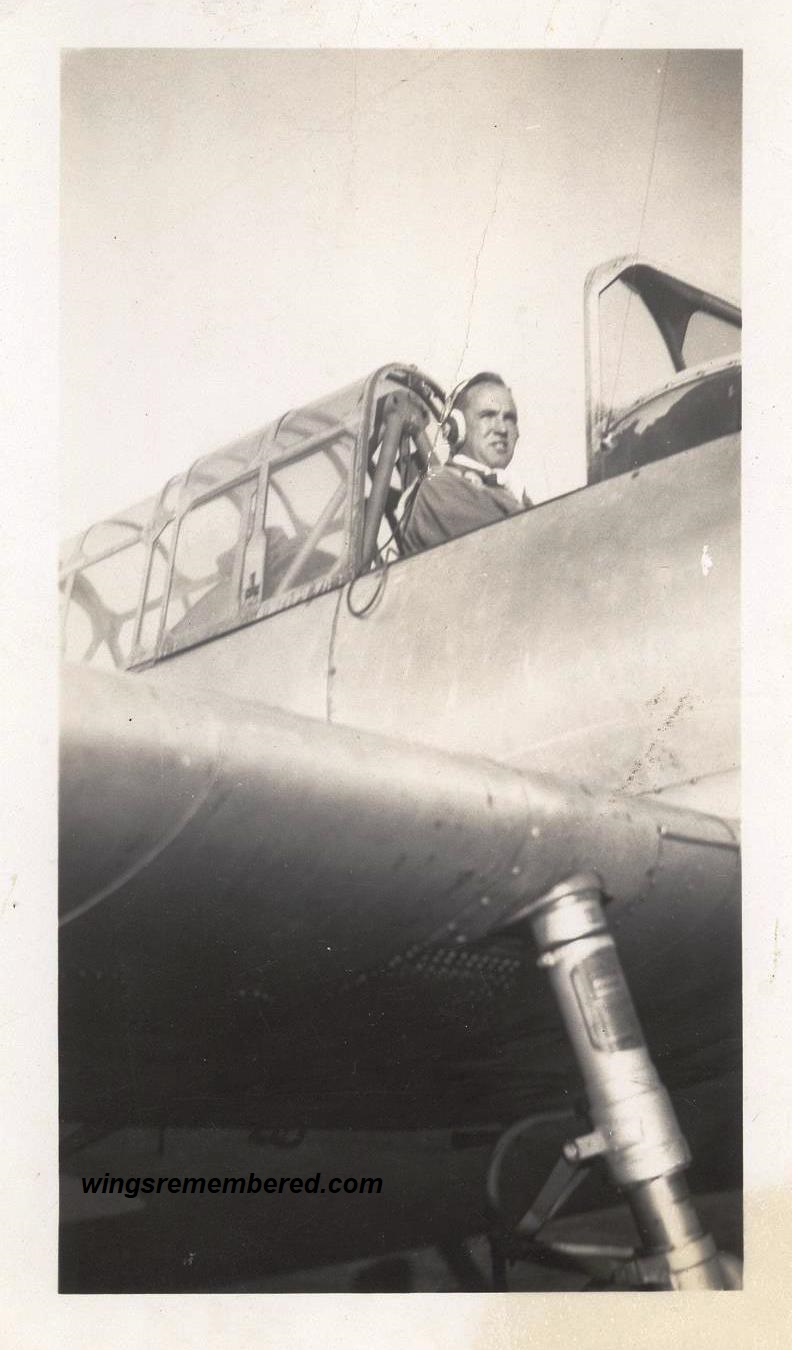 Bill during flight training in a BT-13